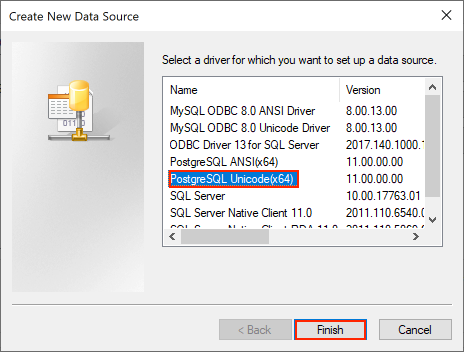 Connect to PostgreSQL from Windows with ODBC - iNTERFACEWARE